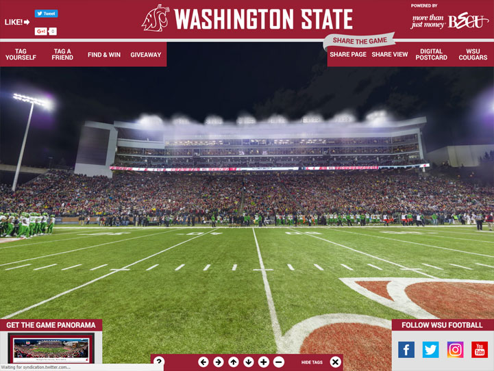 Washington State Cougars 360° Gigapixel Fan Photo