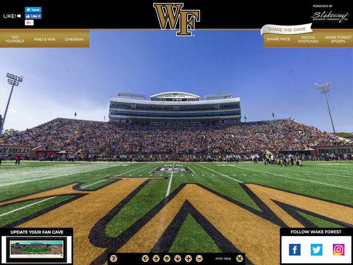 Wake Forest Demon Deacons 360° Gigapixel Fan Photo