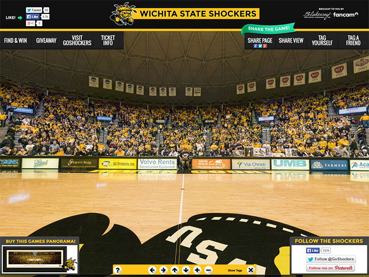 Wichita State Shockers 360° Gigapixel Fan Photo