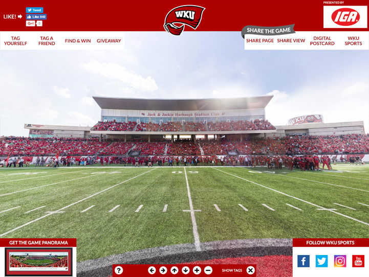 WKU Hilltoppers 360° Gigapixel Fan Photo