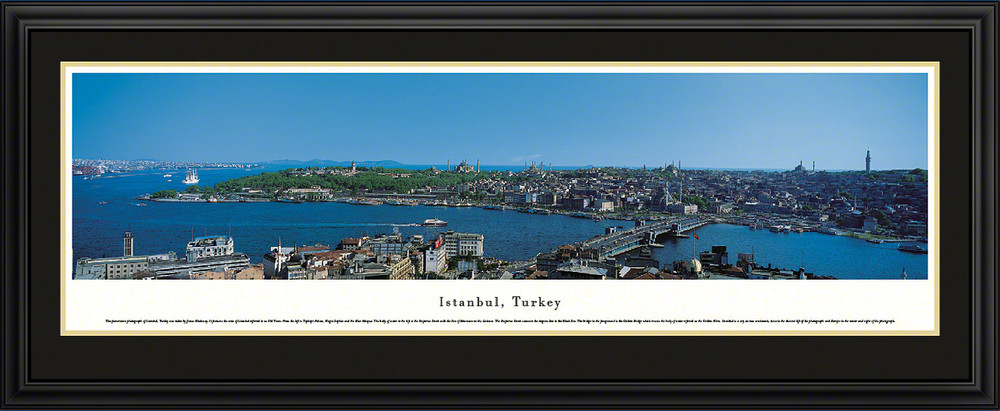 Istanbul Turkey City Skyline Panoramic Print