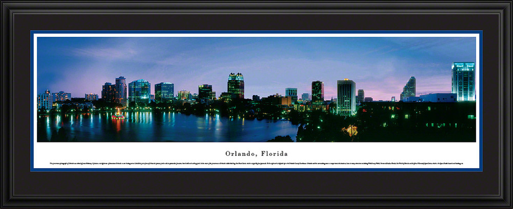 Orlando Florida Skyline Panoramic Print Twilight