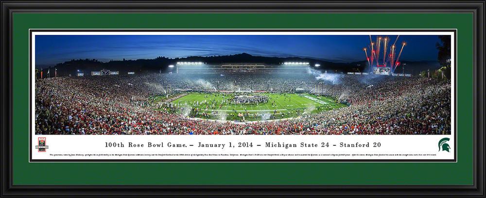 2014 Rose Bowl Panoramic Poster Michigan State Spartans
