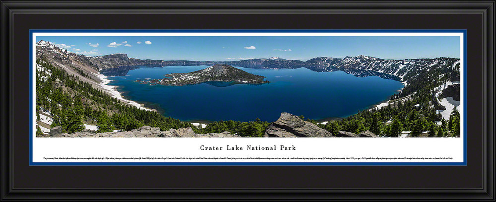 Crater Lake National Park Panoramic Print Summer