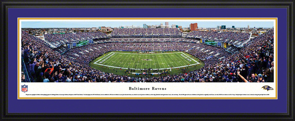 Baltimore Ravens Panoramic Poster Nfl Fan Cave Decor