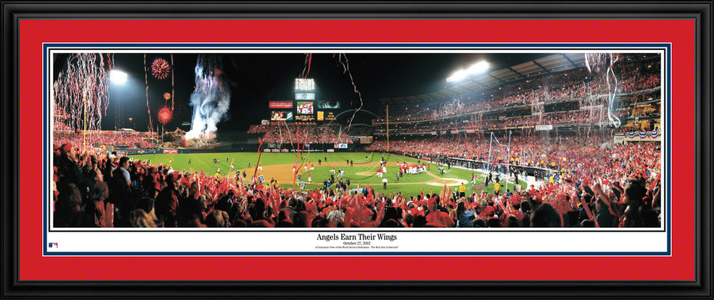 Los Angeles Angels Panorama 2002 World Series Poster