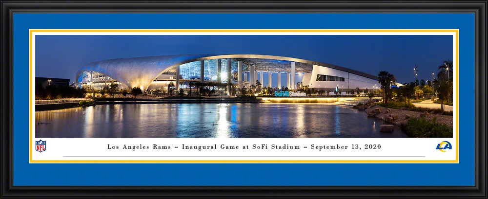 Los Angeles Rams Framed Panoramic Poster Sofi Stadium Picture