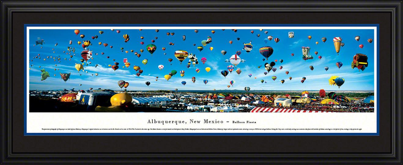 Albuquerque International Balloon Fiesta Skyline Panoramic Picture - New Mexico