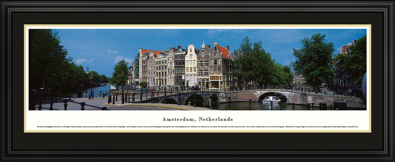 Amsterdam, Netherlands Panoramic Skyline Picture