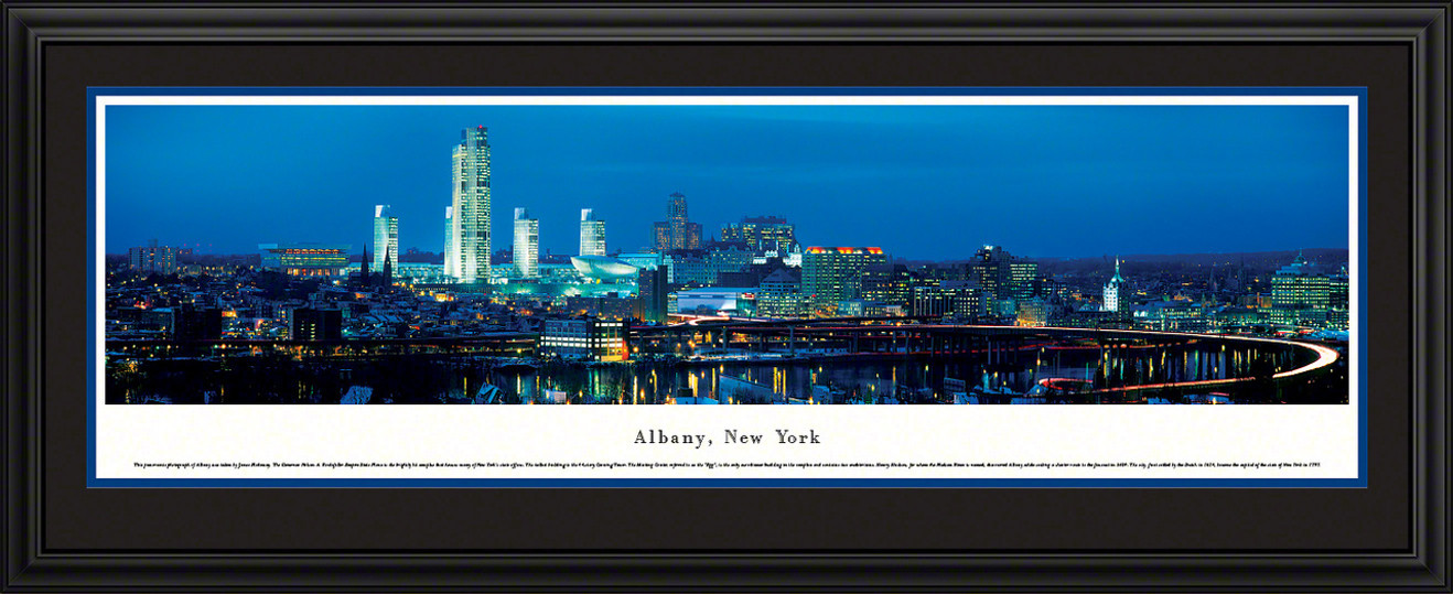 Albany, New York Panoramic Skyline Picture - Twilight
