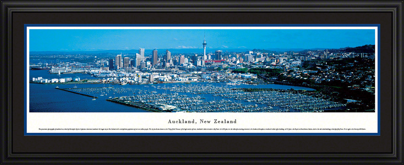 Auckland, New Zealand City Skyline Panoramic Picture