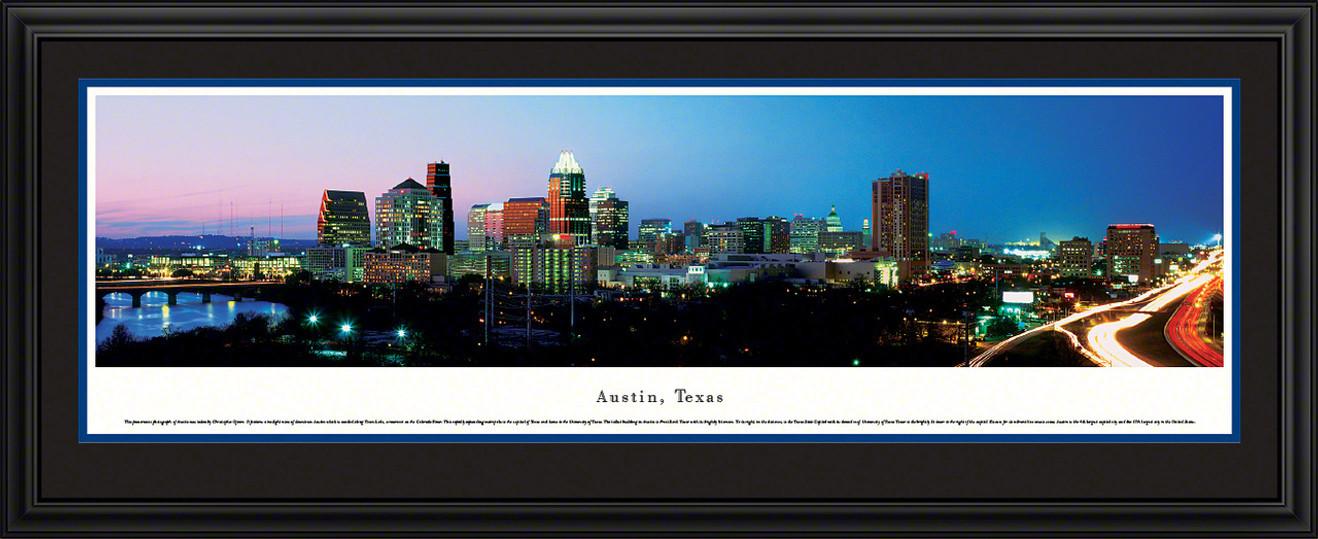 Austin, Texas City Skyline Panoramic Picture - Twilight