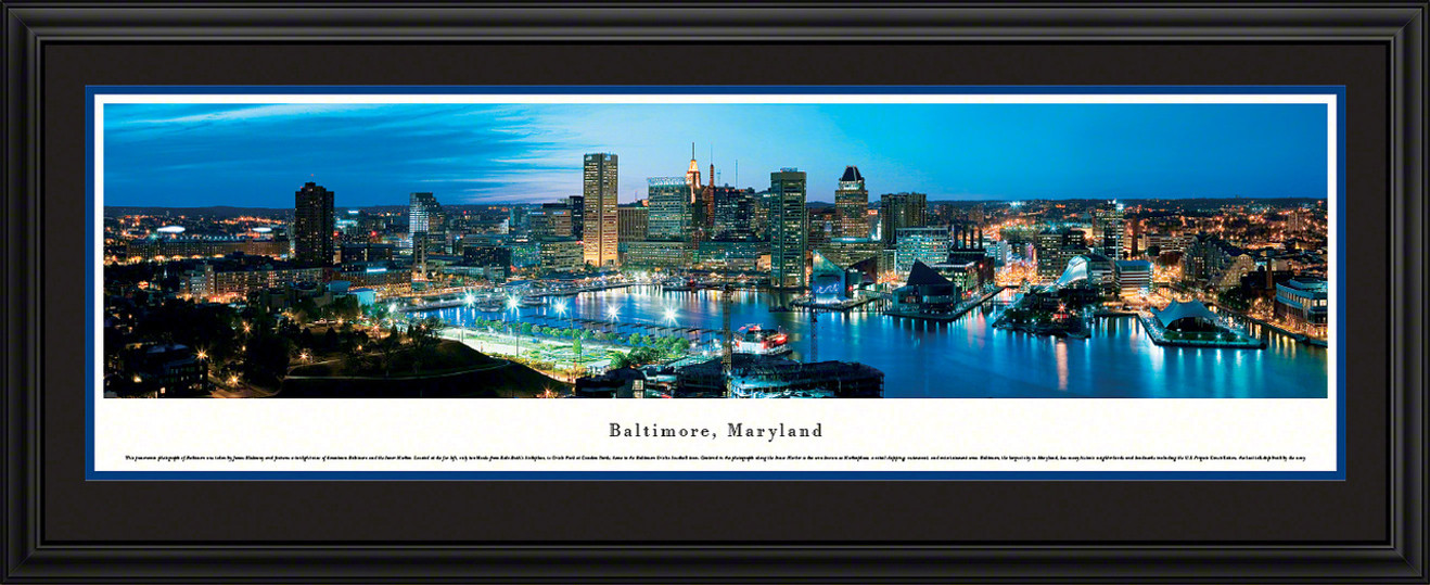 Baltimore, Maryland City Skyline Panorama - Twilight