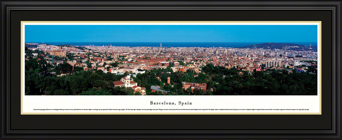 Barcelona, Spain City Skyline Panorama