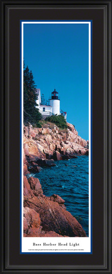 Bass Harbor Head Light Panoramic Picture - Vertical Lighthouse Panorama