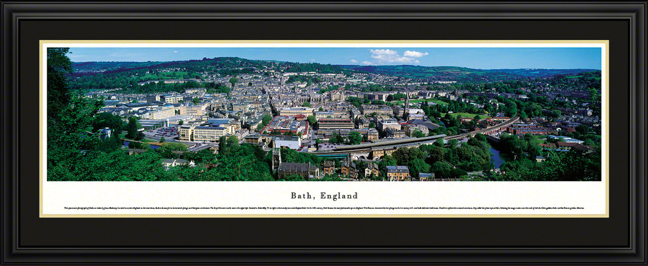 Bath, England Panoramic City Skyline