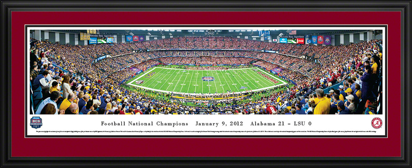 2012 BCS Football Championship Panoramic - Alabama Crimson Tide
