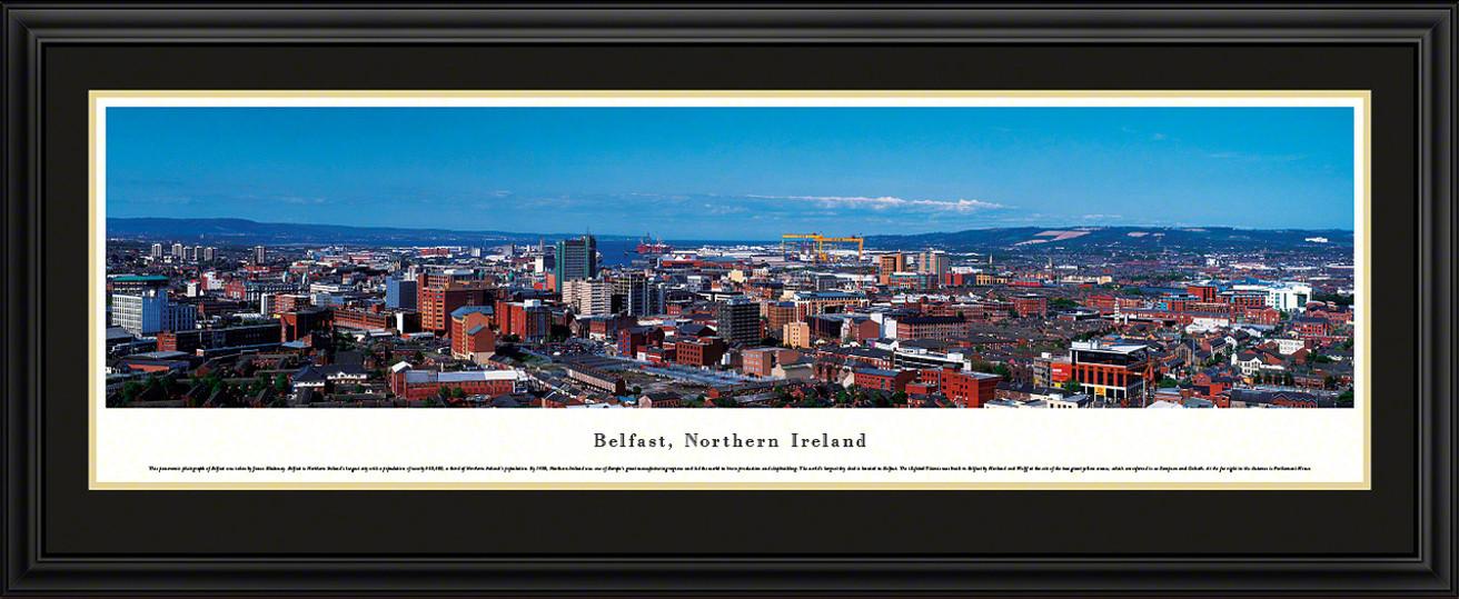 Belfast, Northern Ireland City Skyline Panoramic Picture