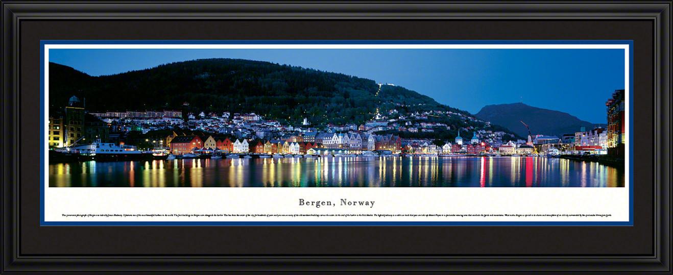 Bergen, Norway Skyline Panorama - Twilight