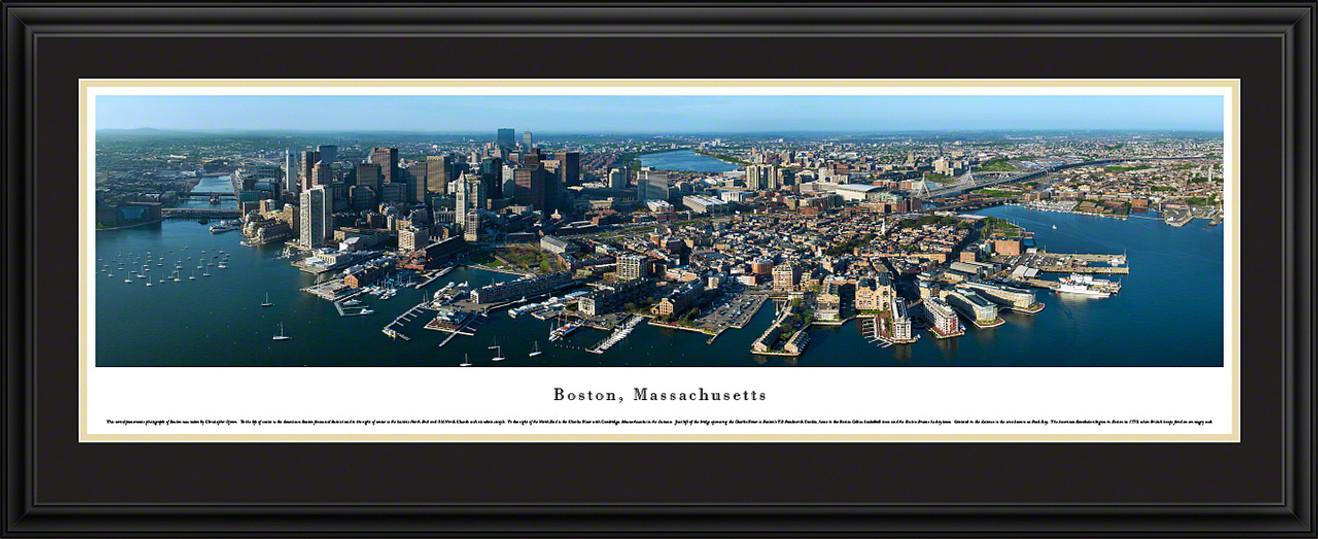 Boston, Massachusetts City Skyline Panorama