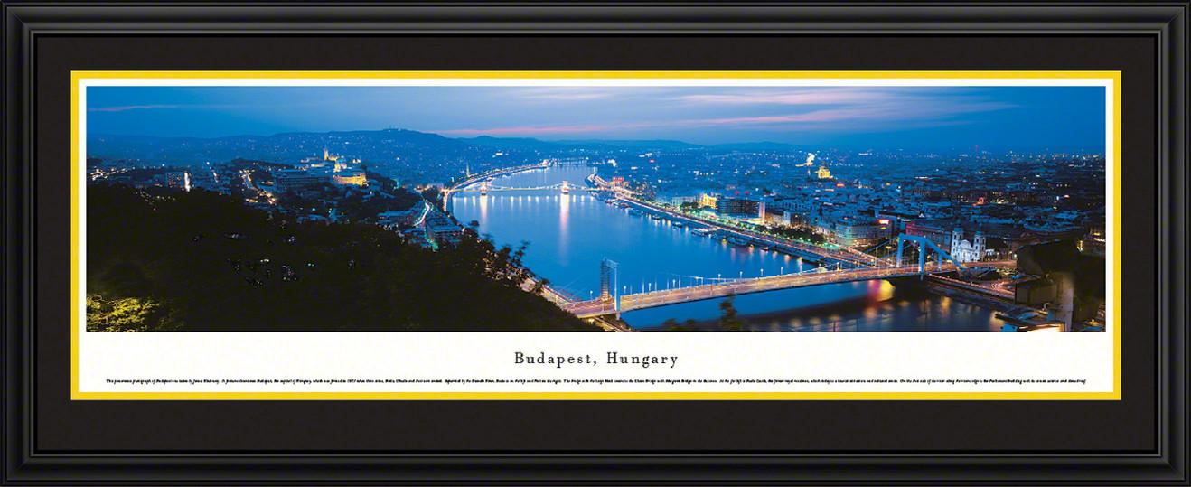 Budapest, Hungary City Skyline Panoramic Picture - Twilight