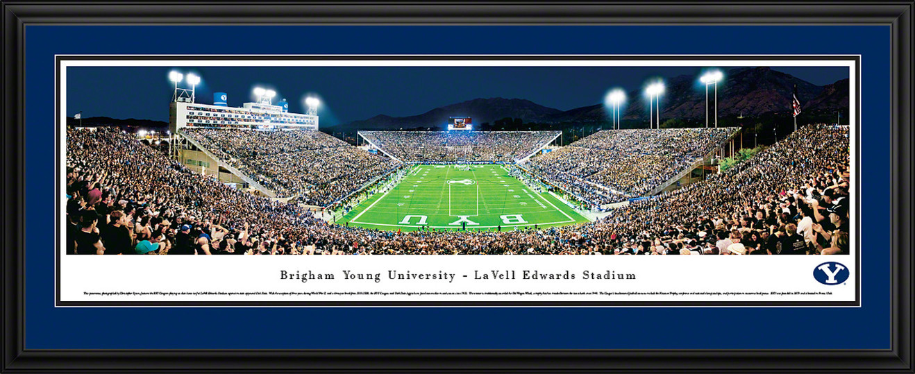 Brigham Young Cougars Panorama - Lavell Edwards Stadium Picture