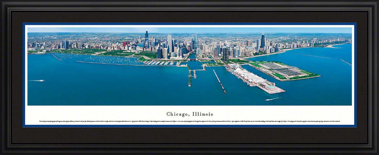 Chicago, Illinois Skyline Panoramic Picture
