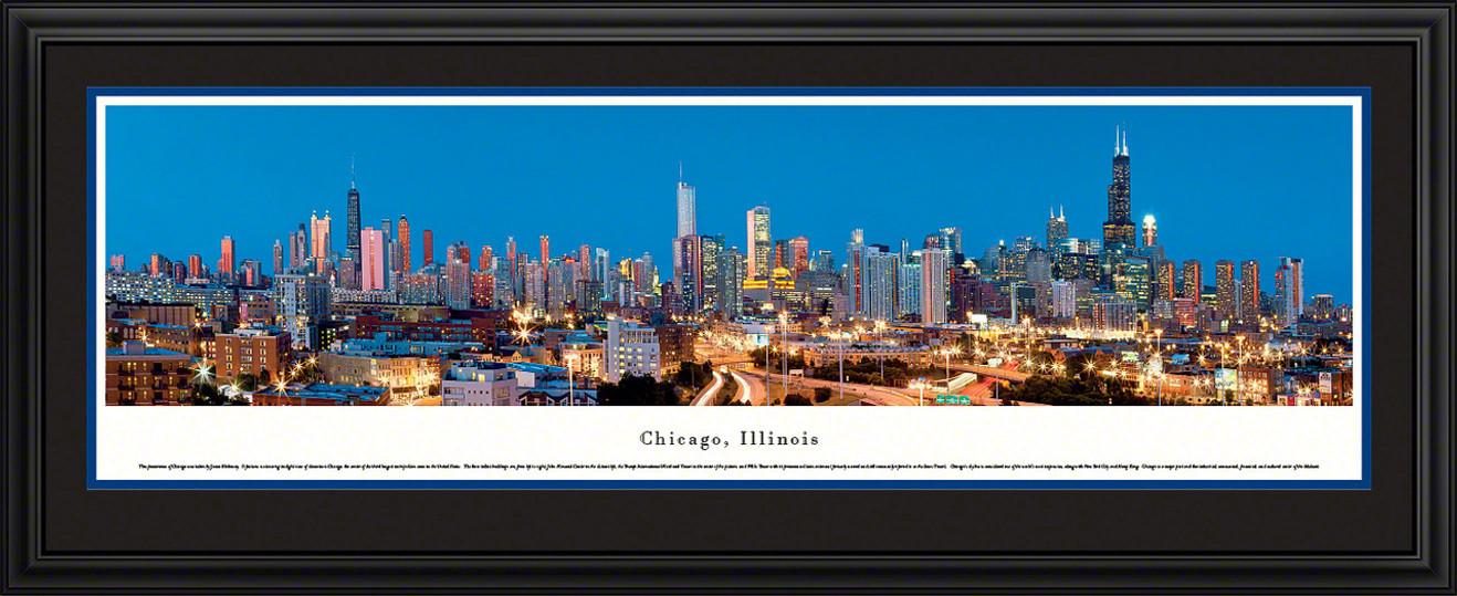 Chicago, Illinois Downtown Skyline Panorama - Twilight