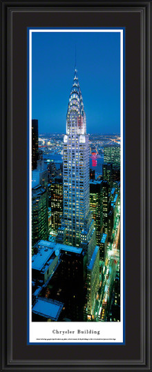 Chrysler Building Panoramic Picture - Twilight - Vertical Panorama