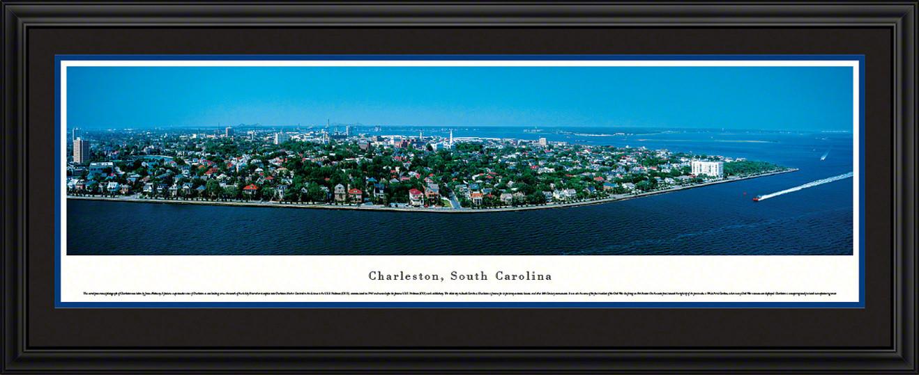 Charleston, South Carolina City Skyline Panoramic Picture