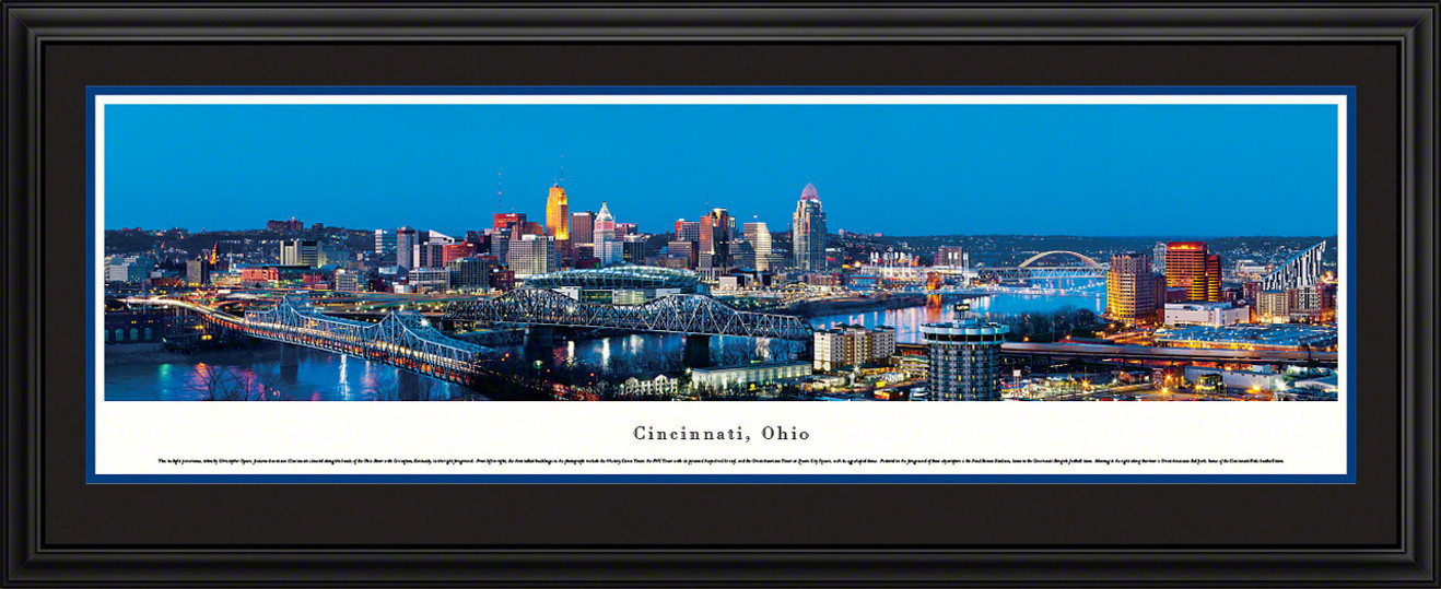 Cincinnati, Ohio City Skyline Panorama - Twilight