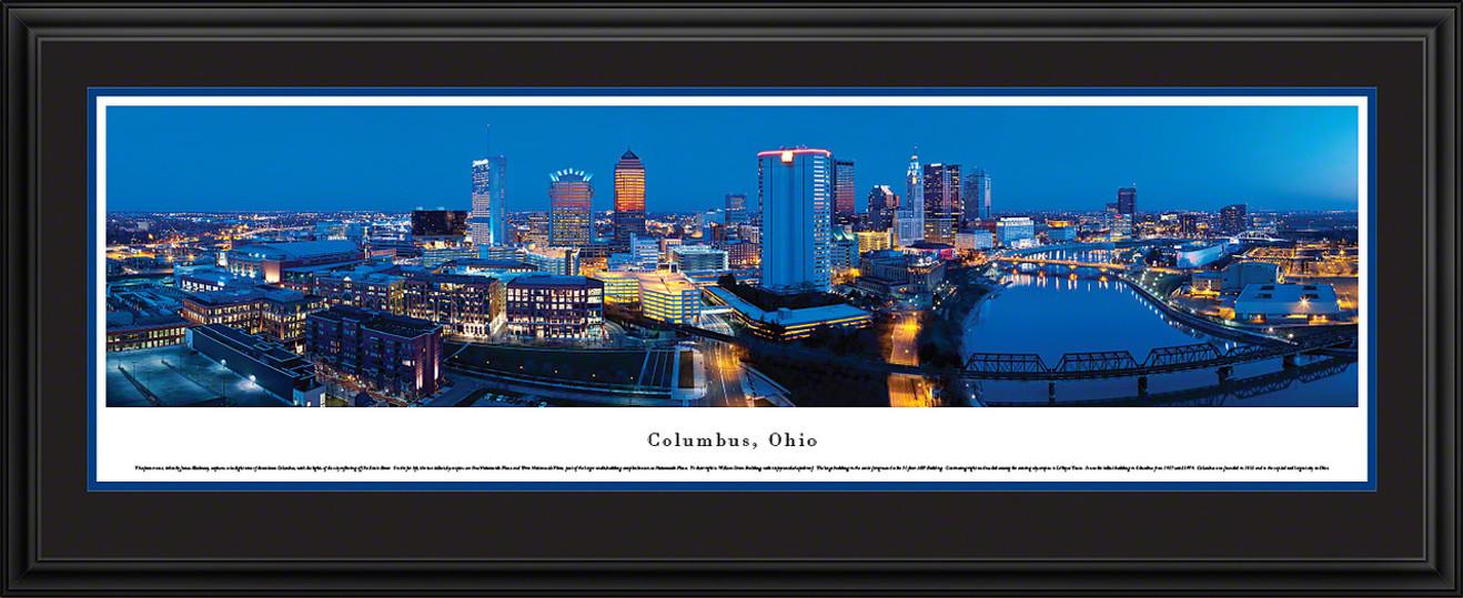 Columbus, Ohio City Skyline Panoramic Picture - Twilight