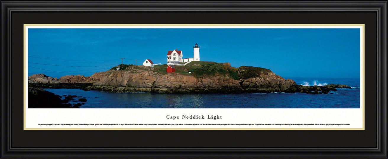 Cape Neddick Light Panoramic Picture - Maine Lighthouse