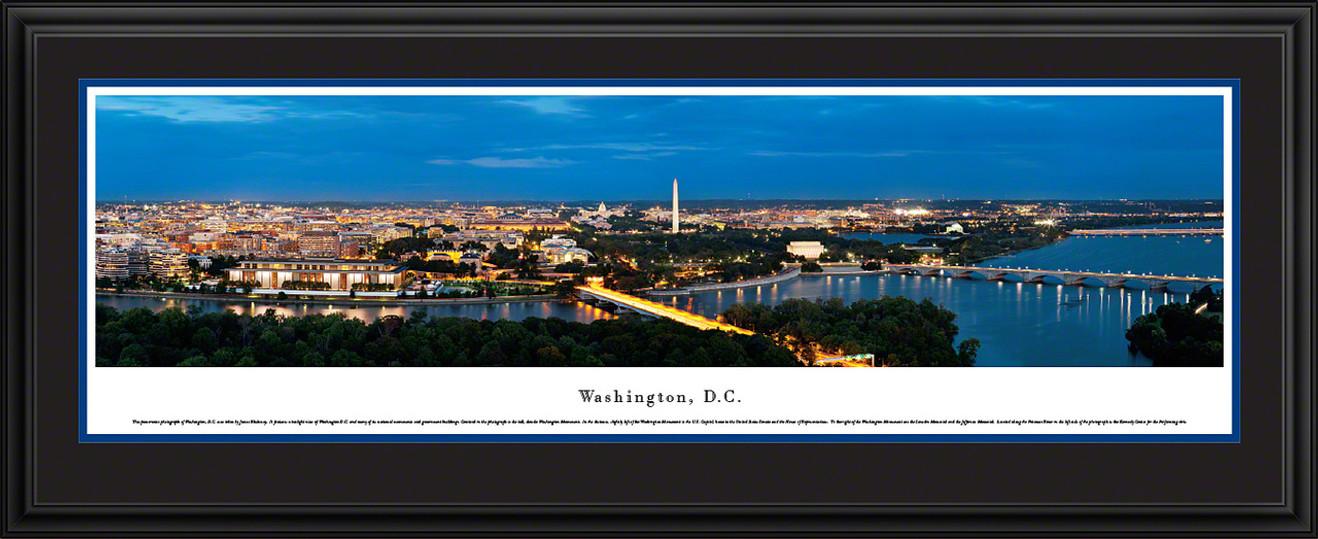 Washington, DC Panoramic Skyline Picture - Twilight