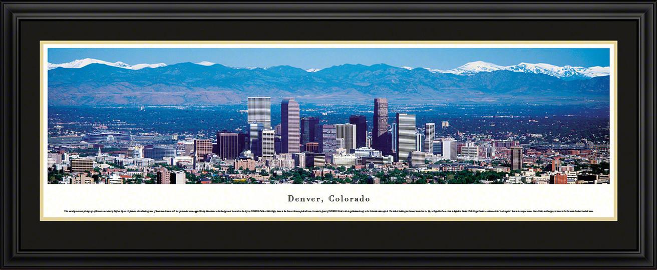 Denver, Colorado Panoramic Skyline Picture