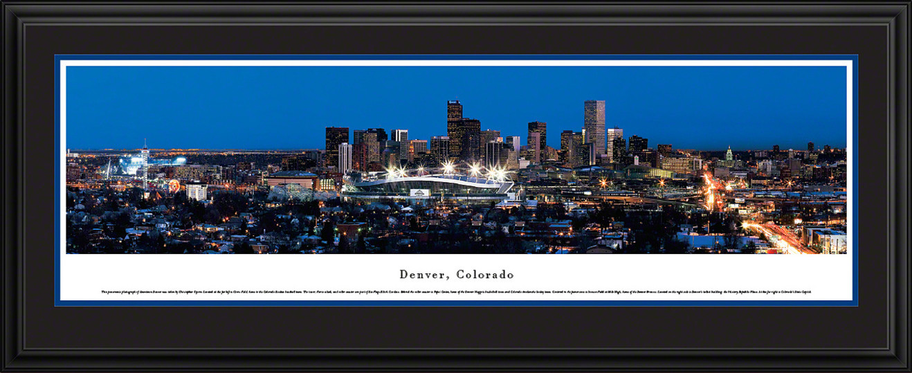 Denver, Colorado City Skyline Panorama - Twilight