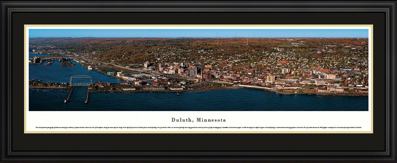 Duluth, Minnesota Autumn City Skyline Panorama
