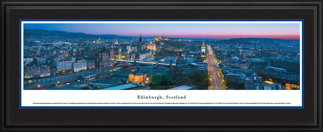 Edinburgh, Scotland City Skyline Panoramic Picture - Twilight