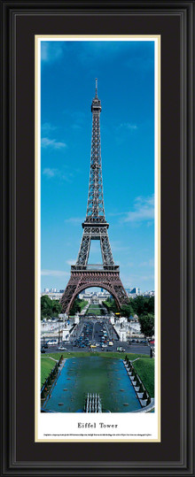 Eiffel Tower Panoramic Picture - Day - Vertical Panorama