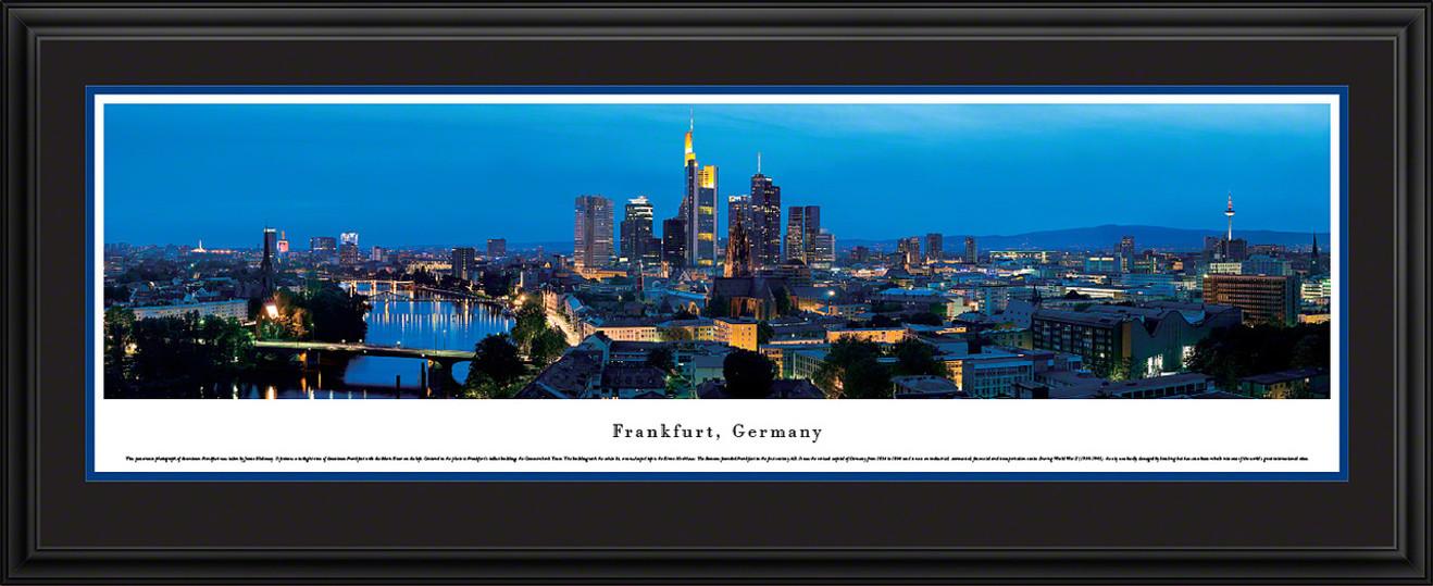 Frankfurt, Germany City Skyline Panorama - Twilight