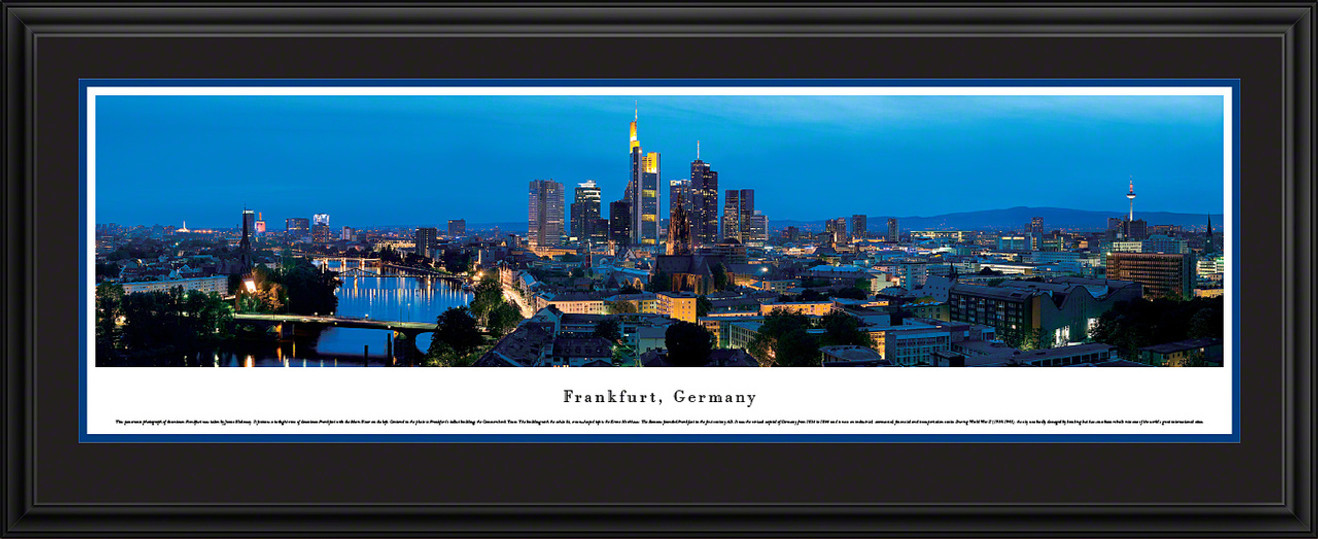 Frankfurt, Germany City Skyline Panorama - Twilight