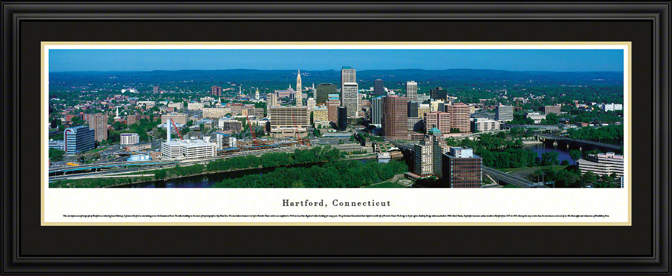 Hartford, Connecticut City Skyline Panoramic Picture