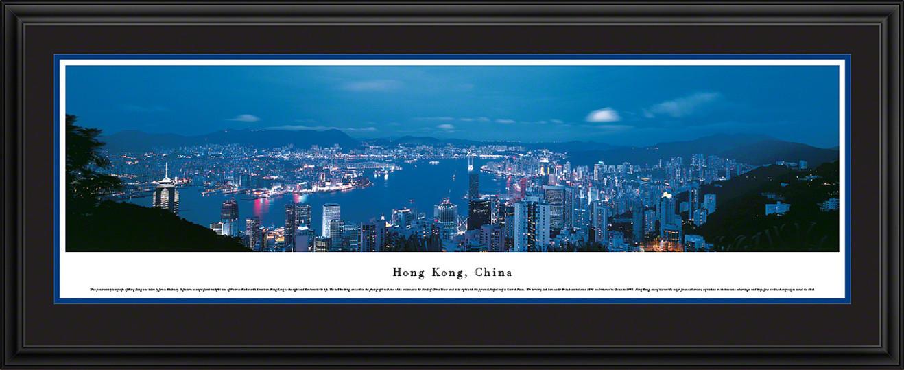 Hong Kong, China City Skyline Panoramic Picture - Twilight
