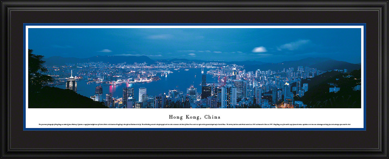 Hong Kong, China City Skyline Panoramic Picture - Twilight