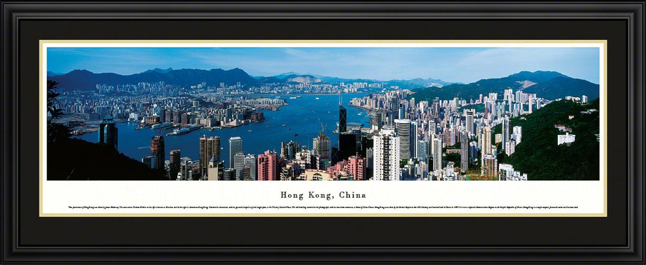 Hong Kong, China City Skyline Panorama