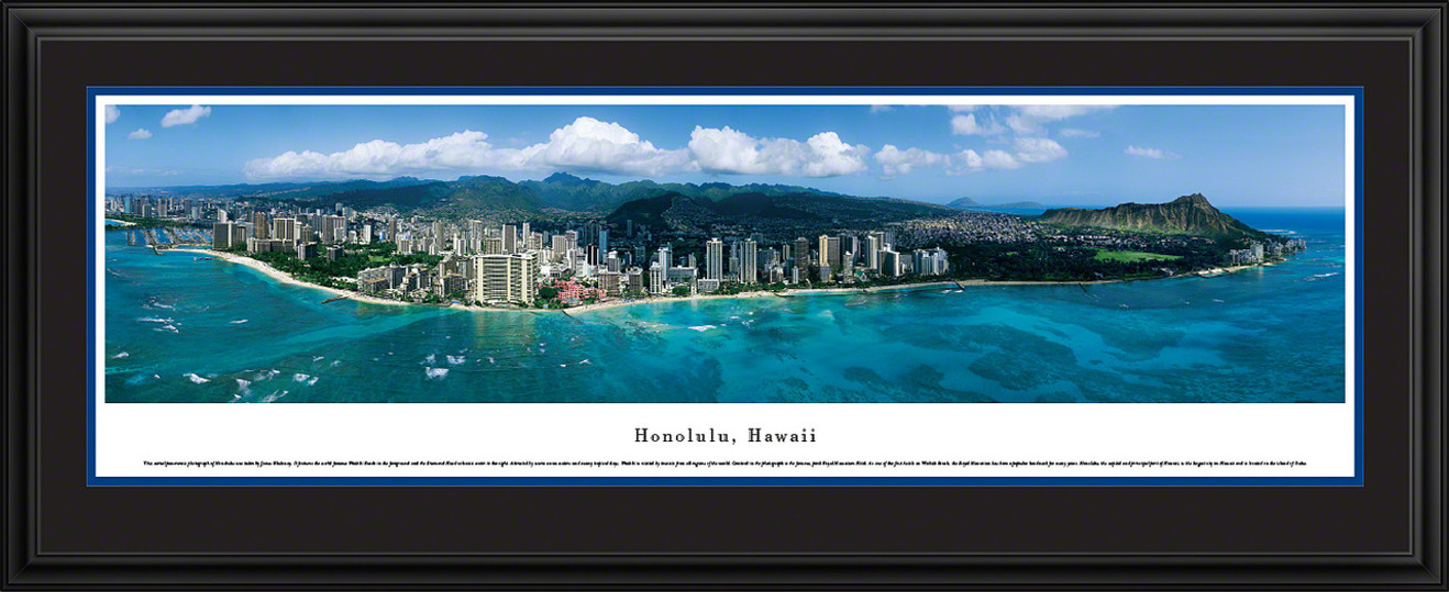 Honolulu, Hawaii City Skyline Panoramic Picture