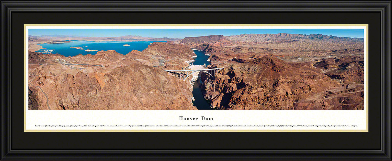 Hoover Dam Panoramic Picture - Looking Upstream