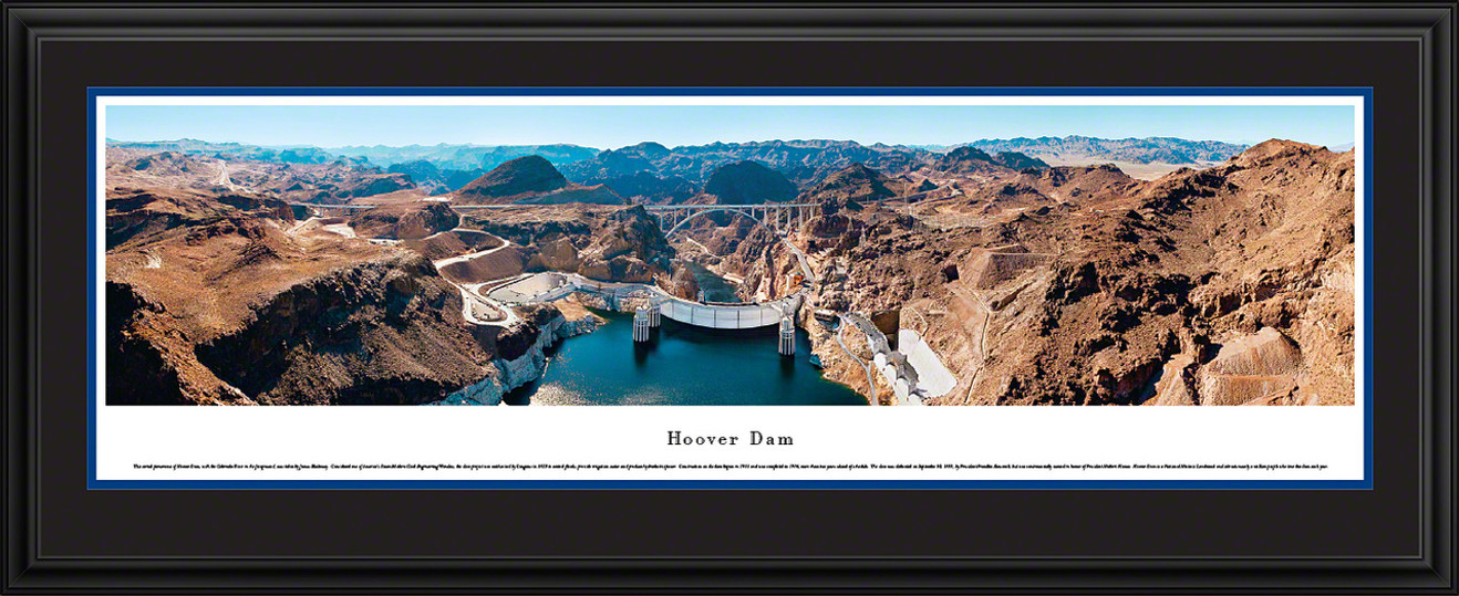 Hoover Dam Panoramic Picture - Looking Downstream