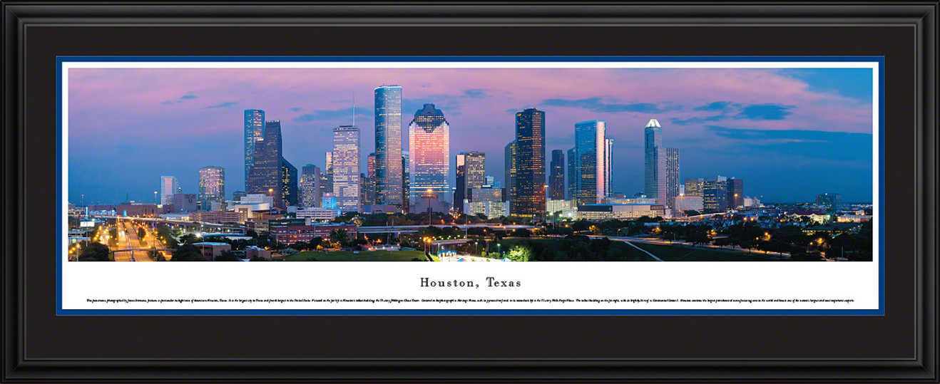 Houston, Texas City Skyline Panoramic Picture - Twilight