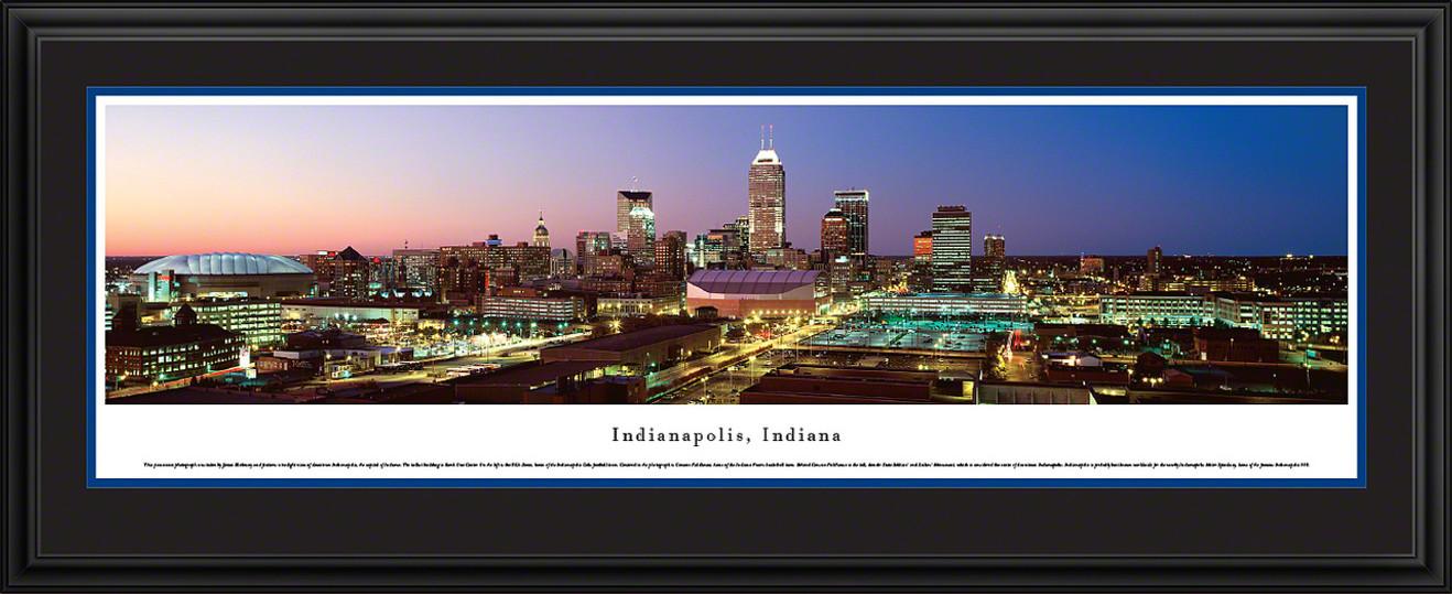 Indianapolis, Indiana City Skyline Panoramic Picture - Twilight